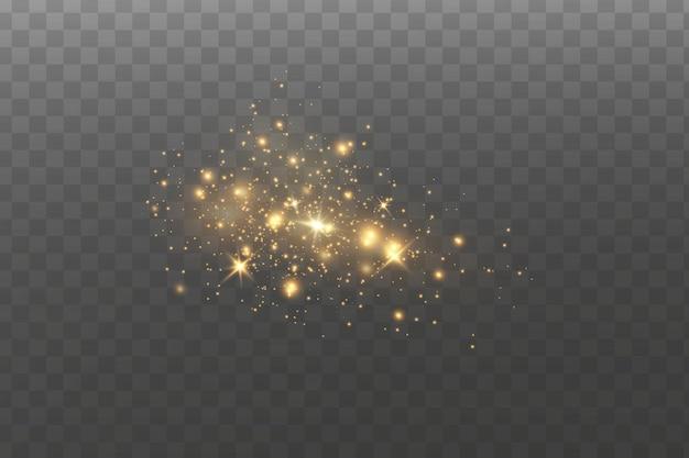 Lichteffekt. funkelnde staubpartikel.