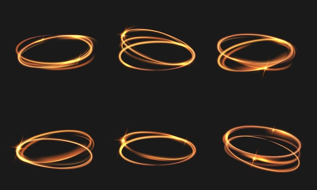 Lichteffekt glühend isoliert auf schwarz transparent.