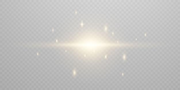 Lichteffekt glühend. isoliert