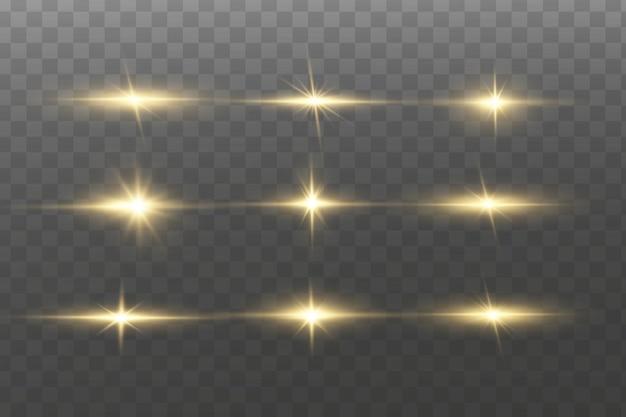 Lichteffekt. heller stern. licht explodiert