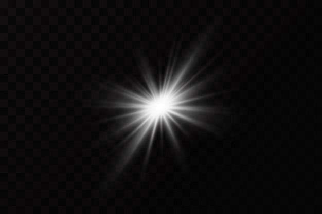 Lichteffekt helles sternenlicht explodiert
