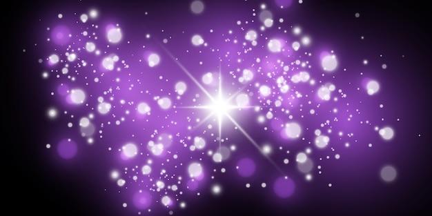 Lichteffekt, kosmischer staub, sterne, blendung.