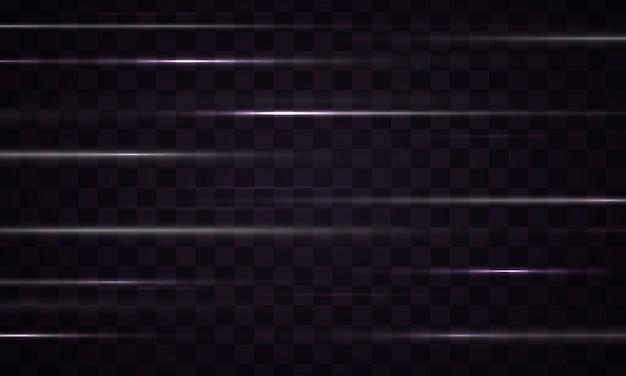 Lichteffektlinienstreifen isoliert auf schwarz