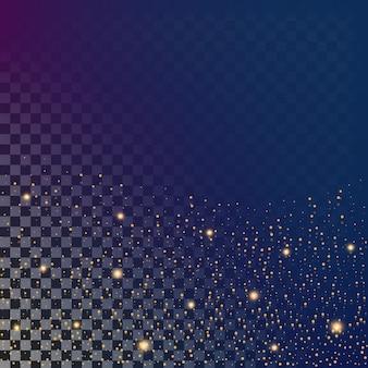 Lichteffektsterne des glühens sprengt mit scheinhintergrund