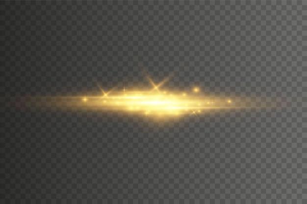Lichter und funkeln auf transparent.