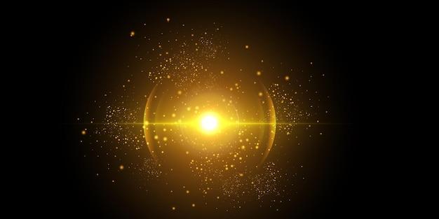 Lichtgeschwindigkeit im weltraum leuchtende lichter am nachthimmel