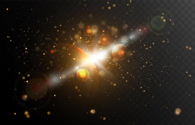 Lichtgeschwindigkeit im weltraumvektorhintergrund leuchtende lichter am nachthimmel vektorillustration