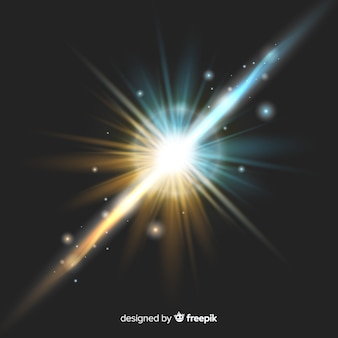 Lichtkräfte bewirken einen realistischen stil
