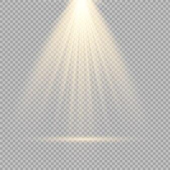 Lichtquellen, konzertbeleuchtung, scheinwerfer eingestellt. konzertstrahler mit strahl, beleuchtete scheinwerfer zur darstellung des webdesigns.