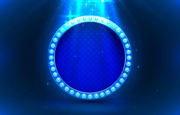 Lichtrahmenetikett, kreisbarkasino, schild anzeigen.