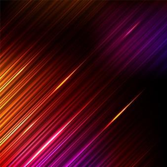 Lichtstrahl, streifenlinien, geschwindigkeitsbewegungsmuster und bewegungsunschärfehintergrund. Premium Vektoren