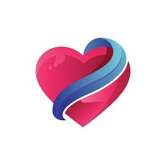 Liebe abstraktes logo