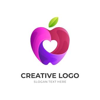 Liebe apple logo design-konzept