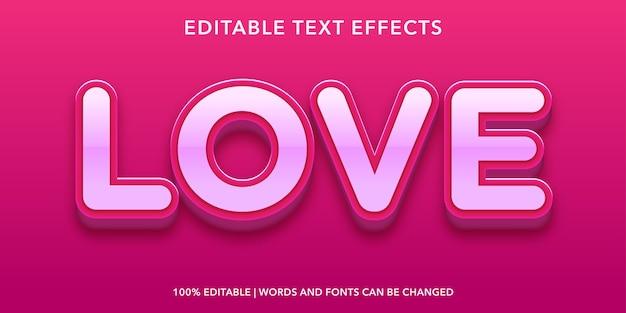 Liebe bearbeitbaren texteffekt