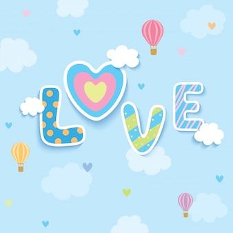 Liebe blauen himmel