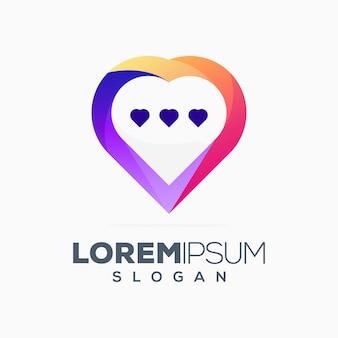 Liebe chat logo design
