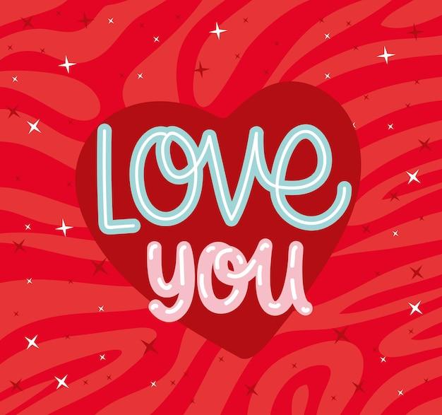Liebe dich karte