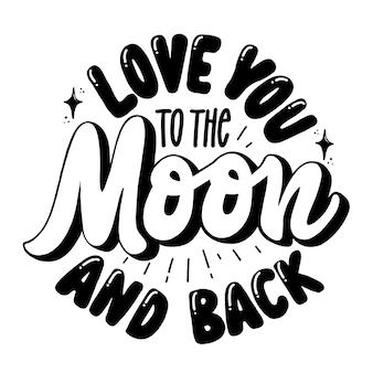 Liebe dich zum mond und zurück