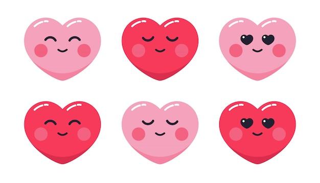 Liebe emoticon illustration pack