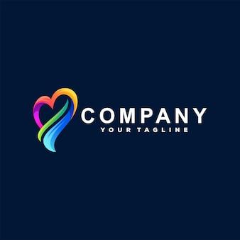 Liebe farbverlauf logo design