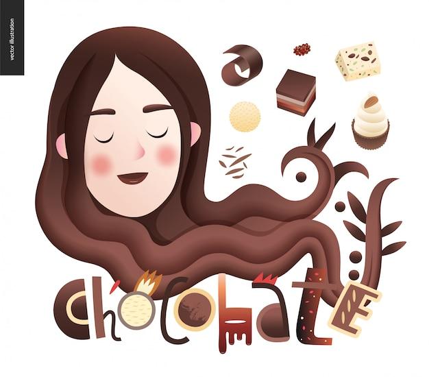 Liebe frühlingsschokolade
