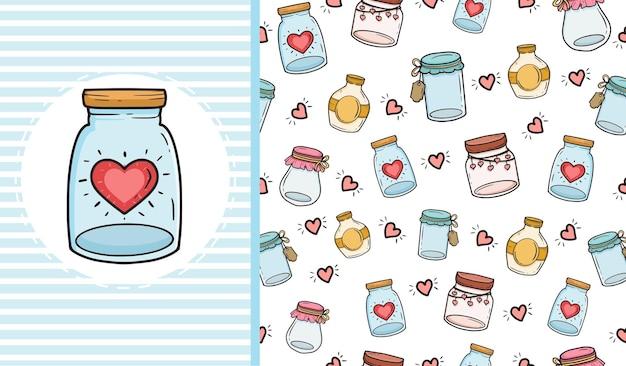 Liebe glas nahtlose muster hintergrund textur design.