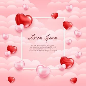 Liebe hintergrunddesign