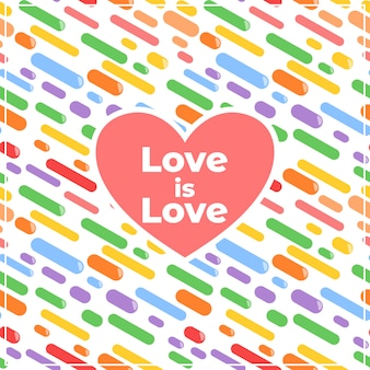 Liebe ist dekorativer hintergrund der liebe