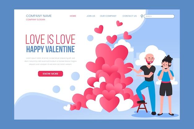 Liebe ist liebe landing page