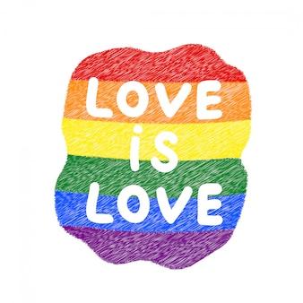Liebe ist liebe lgbtq stolz regenbogen poster slogan