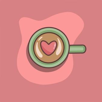 Liebe kaffee symbol valentinstag vektor illustration