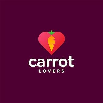 Liebe karotten-logo-design