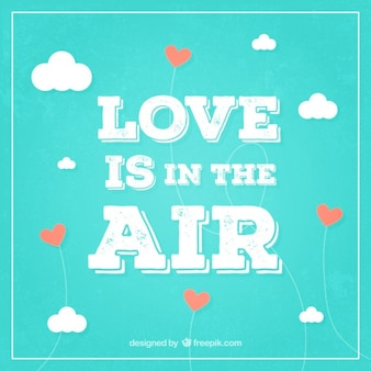 Liebe liegt in der luft hintergrund im retro-stil