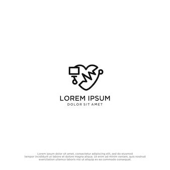 Liebe logo-design-vorlage