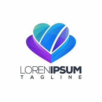 Liebe logo, vorlage,