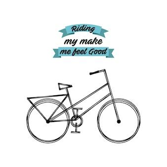 Liebe mein fahrrad lebensstil konzept symbol