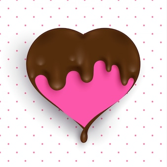Liebe mit geschmolzener schokolade