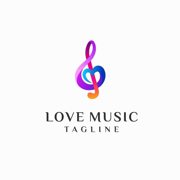 Liebe musik logo vorlage