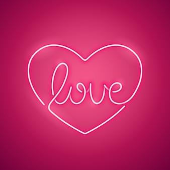 Liebe neon sign pink
