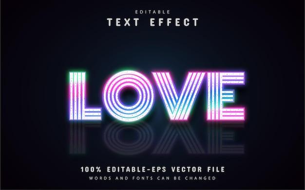 Liebe neon-texteffekte