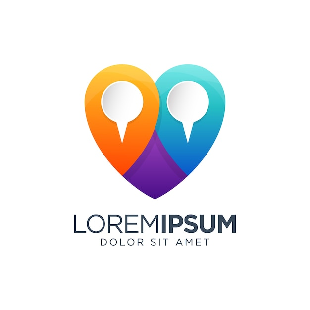Liebe pin logo design