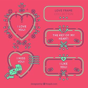 Liebe rahmen sammlung