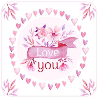 Liebe rosa aquarell hintergrund