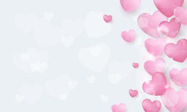 Liebe rosa in grau