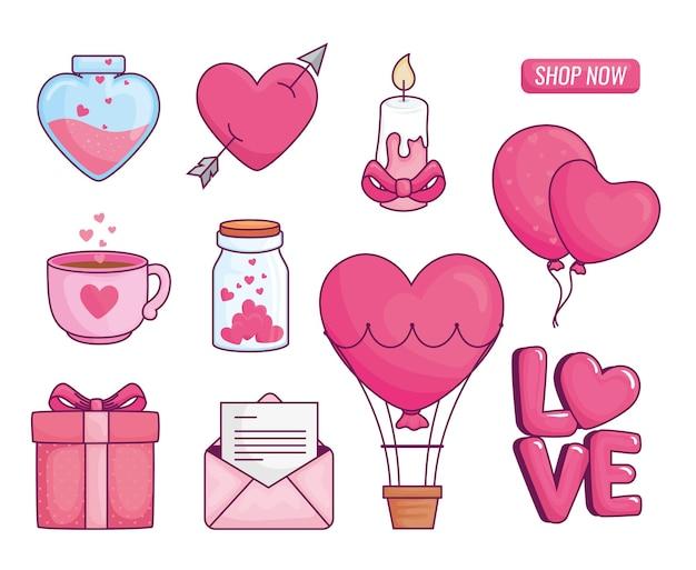 Liebe sammlung illustration