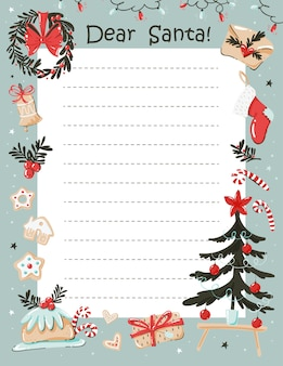Liebe santa briefvorlage