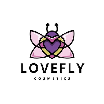 Liebe schmetterling buntes logo