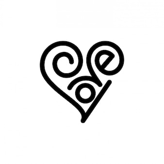 Liebe schriftzug logo