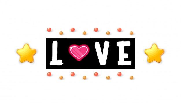 Liebe. slogan über die liebe, geeignet als postkarte zum valentinstag.