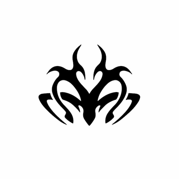 Liebe symbol logo tribal tattoo design schablone vektor illustration